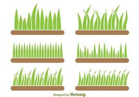 Achtergrond Van Gras Vector Set