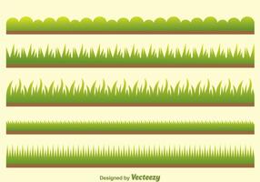 Vector Groen Gras Op Veld