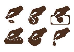 Donate pictogram vectoren