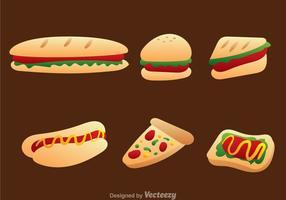 Fastfood pictogram vector set