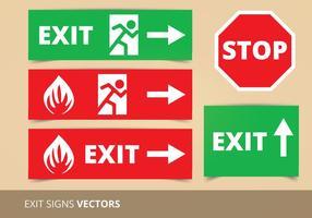 Exit sign vectoren