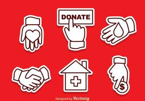 Donate overzicht vector iconen