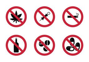 Gratis Geen Drugs Vector Pictogram
