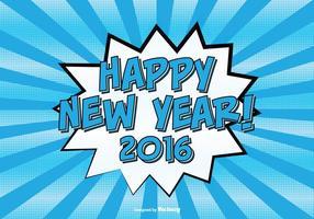 Stripstijl Gelukkig Nieuwjaar Illustratie
