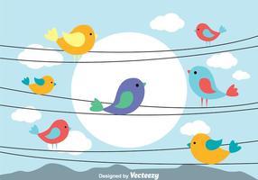 Vogel Op Een Wire Vectoren