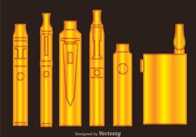 Vaporizer goud iconen