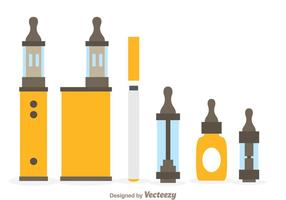 Vape Pictogrammen vector