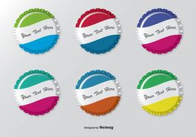 Kleurrijke Bottle Cap Set