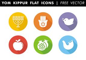 Yom Kippur Platte Pictogrammen Gratis Vector