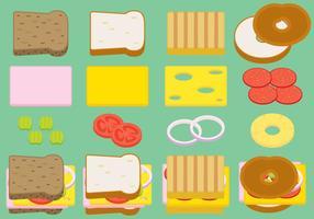 Belegde broodjes vector