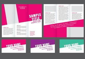 Minimale Kleurrijke Vouw Brochure