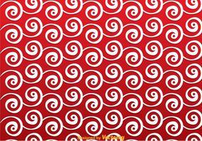 Rode Swirly Achtergrond vector