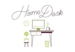 Gratis Desk Vector
