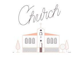 Gratis Kerk Vector