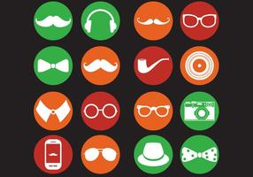 Retro hipster iconen