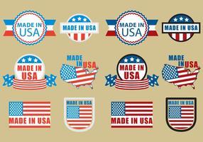 Gemaakt in de VS Badges vector