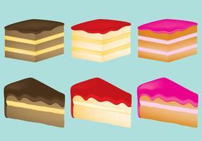 Cake plakjes vector