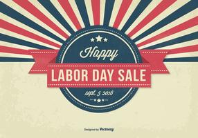 Retro stijl Labor Day Sale Illustratie vector