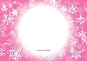 Mooie Roze Kerstmis Sneeuwvlok Achtergrond