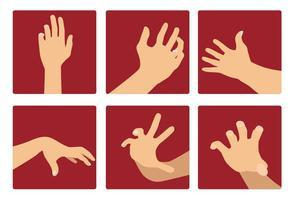 Hand bereiken vector