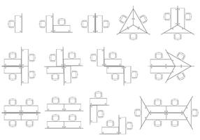 Kantoor kubussen vectoren