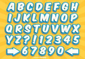 Comic Style Alfabet Set