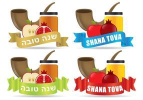 Shana tova designs vector