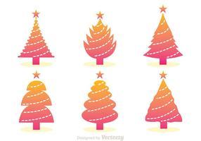 Graduatie kerstboom iconen vector