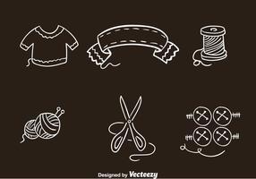 Knitting Kleren Pictogrammen Vectoren