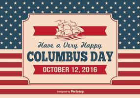 Vintage Columbus Day Illustratie