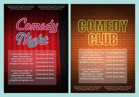Comedy club flyers vector