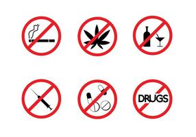 Gratis Geen Drugs Signs Vector