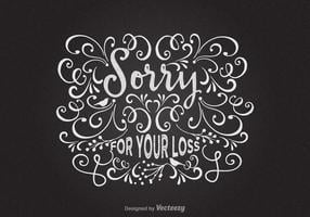 Gratis Sorry voor uw verlies vector kaart