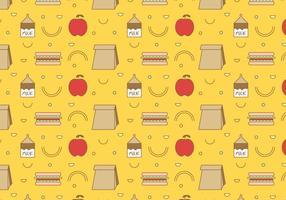 Gratis School Lunch Vector Patroon # 3