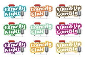 Komedie Logos Titels vector