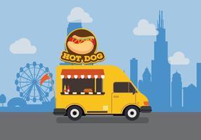 Vector hotdog truck