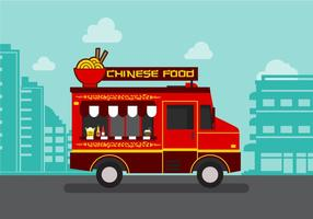 Vector Chinese Food Truck