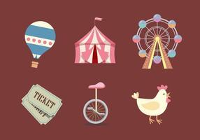 Vector county fair icon set