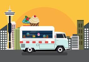 Vector cupcake vrachtwagen