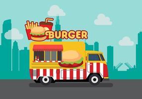 Vector burger truck