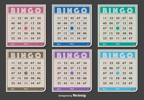 Klassieke Bingo kaarten vector