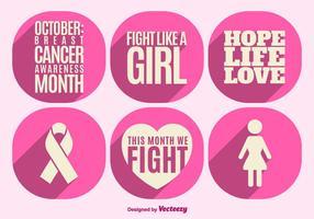 De voorlichtingselementen van borstkanker vector