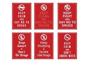 Geen Drugs Poster Vector