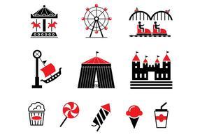County fair vector iconen