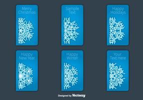 Kerstkaart sneeuwvlokken kaart vectoren