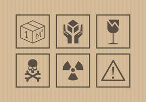 Hanteer met Care Stickers in Vector