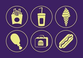 Voedsel vector iconen