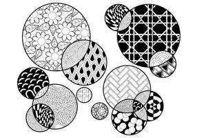 Kleurplaat van cirkels vector