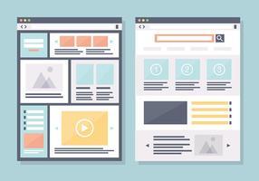 Moderne Vlakke Web Design Vector Achtergrond
