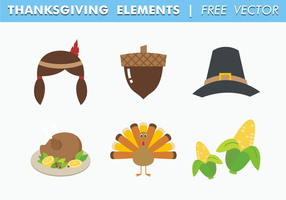 Thanksgiving elementen gratis vector